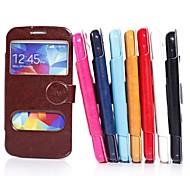 высокого ранга неподдельная кожа PU чехол случай мобильного телефона полное тело взрывоустойчивой случай для Samsung i9600 s5