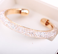 cheap -Women's Rhinestone Cuff Bracelet - Personalized Unique Design Handmade Fashion Simple Style European Others Golden Bracelet For Christmas