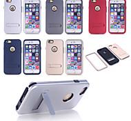 abordables -bonne qualité de conception spéciale pc silicone cas incassable couverture arrière pour iPhone 6 (couleurs assorties)
