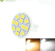 Недорогие -5W GU4(MR11) Точечное LED освещение MR11 12 светодиоды SMD 5060 Диммируемая Декоративная Тёплый белый Холодный белый Естественный белый