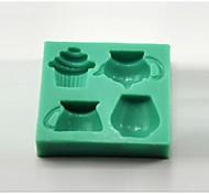 teiera bicchier bigné strumenti a forma di torta fondente del silicone della muffa del cioccolato della muffa / decorazione per la cucina