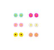 Недорогие -Серьги-гвоздики Серьги указан Резина Серебрянное покрытие В форме цветка Подсолнух Бижутерия Повседневные Спорт 12шт