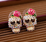 cheap -Women's Stud Earrings - Skull Pink For Daily / Casual