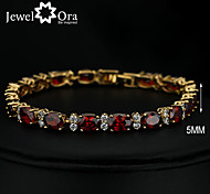 cheap -Women's Chain Bracelet Vintage Cute Party Work Casual Fashion Link/Chain Gemstone & Crystal Cubic Zirconia Gold Plated Wine Jewelry Daily