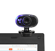360 Degrees Rotary 12M USB 2.0 HD Webcam Camera Web Cam with Built-in MIC Mini Clip for PC Laptop