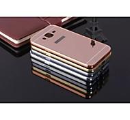 Недорогие -Для Кейс для  Samsung Galaxy Защита от удара / Покрытие / Зеркальная поверхность Кейс для Задняя крышка Кейс для Один цвет Металл Samsung