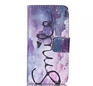 Sterne-Lächeln-Muster PU-Leder gemalt Telefonkasten für iphone 4 / 4s