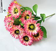 Недорогие -Шелковый цветок для свадьбы и декоративного украшения, хризантемы