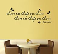 Недорогие -стены стикеры наклейки для стен стиль жизни любовь живые английских слов&цитирует наклейки ПВХ стены
