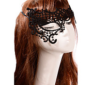 Black Sexy Lady Lace Mask Cutout Eye Half Face Masquerade Party Fancy Dress Costume