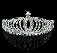 cheap -Crystal Rhinestone Tiaras Headwear with Floral 1pc Wedding Special Occasion Headpiece