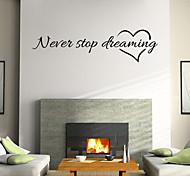 wall stickers da parete in stile decalcomanie nerer smettere di sognare parole inglesi&cita adesivi murali in pvc