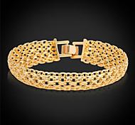 cheap -Men's Women's Gold Plated Chain Bracelet Vintage Bracelet - Gold Silver Bracelet For Wedding Party Daily