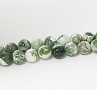 cheap -Beadia 39Cm/Str (Approx 48Pcs) Natural Tree Agate Beads 8mm Round Stone Loose Beads DIY Accessories