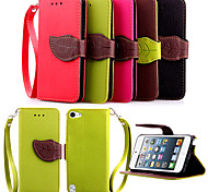 cheap -High Quality Wallet Card Holder PU Leather Flip Case Cover for iPod Touch 5(Assorted Colors)