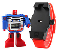 cheap -SKMEI Children's Fashion Watch Digital LCD Rubber Band Charm Blue Red Grey Yellow
