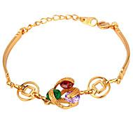 U7® Multicolor/Clear Cubic Zirconia Charms Bracelets 18K Real Gold Plated Luxurious CZ Bracelet for Women