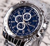 Herren Armbanduhr Quartz Legierung Band Weiß Schwarz Blau