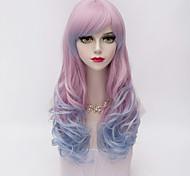 жен. Парики из искусственных волос Естественные волны Фиолетовый Парик для Хэллоуина Карнавальный парик Парики к костюмам