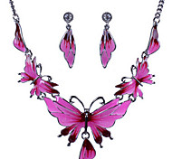 MISSING U Women Vintage / Party  Rose Gold Plated / Alloy Necklace / Earrings Jewelry Sets