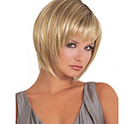 cheap -Synthetic Wig Straight Bob Haircut With Bangs Women's Capless Natural Wigs Short Long Synthetic Hair
