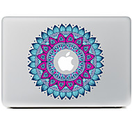 круговой цветок 1 декоративные наклейки кожи для MacBook Air / Pro / Pro с сетчатки дисплей