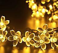GMY Christmas Light Flower Shape 50LED Solar Light Warm White/Cool White/Mix Color