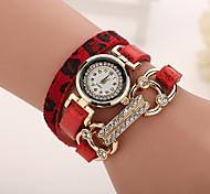Xu™ Women's Leopard Grain Mosaic Diamond Quartz Watch