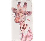 For Huawei Case / P8 Lite Wallet / Card Holder / with Stand / Flip Case Full Body Case Animal Hard PU Leather Huawei Huawei P8 Lite