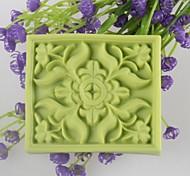 Недорогие -квадрат форме цветка мыло формы Mooncake формы помады торт шоколадный силиконовые формы, формы для выпечки украшение инструменты