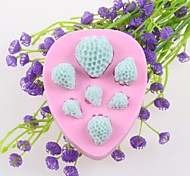 Seven Strawberries Fondant Cake Chocolate Silicone Molds,Decoration Tools Bakeware