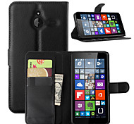 cheap -Case For Nokia Lumia 540 Nokia Lumia 640 Nokia Nokia Lumia 730 Nokia Case Card Holder Wallet with Stand Full Body Cases Solid Color Hard