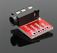 cheap -3.5mm Audio Socket Stereo Sound Module w/ Mic for MP3 Player – Red