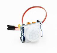 пироэлектрический инфракрасный детектор движения PIR датчик модуль ж / 3-контактный кабель для Arduino - синий + белый