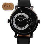 Персональный подарок - Муж. - Часы - С двумя часовыми поясами - Пластик / Натуральная кожа - Группа