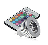 cheap -3W 250 lm GU5.3(MR16) LED Stage Lights MR16 1 leds High Power LED Dimmable Decorative Remote-Controlled RGB DC 12V