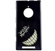 Недорогие -Назначение Кейс для Nokia Чехлы панели С узором Задняя крышка Кейс для Слова / выражения Твердый PC для Nokia