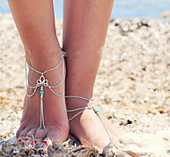 Недорогие -женские ретро многослойные кисти цепь ножной браслет одного