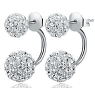 cheap -Women's Ball Sterling Silver Rhinestone Imitation Diamond Stud Earrings - Classic Basic White Earrings For Daily Casual Sports