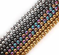 cheap -Beadia 1Str(Approx 100pcs) Natural Stone Beads 4mm Round Hematite Beads 4 Colors U-Pick