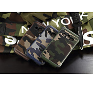 cheap -Case For Samsung Galaxy Samsung Galaxy Case Shockproof Back Cover Camouflage Color PC for J1 Grand Prime E7 E5 Core Prime