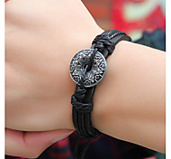 Star Anise Alloy/Leather  Leather Bracelets Daily/Casual 1pc