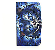 For Nokia Case Wallet / Card Holder / with Stand Case Full Body Case Cat Hard PU Leather Nokia Nokia Lumia 630