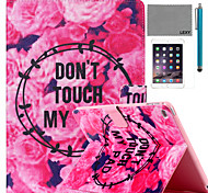 cheap -LEXY® Flowers Story Pattern PU Leather Flip Stand Case with Screen Protector and Stylus for iPad Mini 4