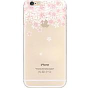 Недорогие -iphone 7 плюс белый слива шаблон TPU материал мягкий телефон случае для iphone 6 / 6с