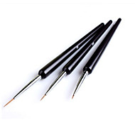 3Pcs Dotting Painting Drawing UV Gel Liner Polish Brush Tool Nail Art Pen Set