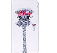 Finger Buckle Ostrich Head Painted PU Phone Case for Galaxy Grand Prime G5308/Galaxy Core Prime G360