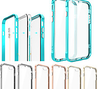 Bumper + Transparent Back Case Cover for iPhone 6Plus/6S Plus(Assorted Colors)