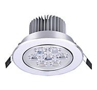 1pcs 7W LED Recessed Lights 7 High Power LED 650lm Warm White Cold White AC85-265V