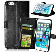 Высокое качество PU кожаный кошелек с мобильного телефона случай кобуры для Iphone 6 плюс (ассорти цветов)